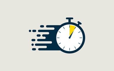Obraz Stopwatch fast quick timely delivery flat icon - fototapety do salonu