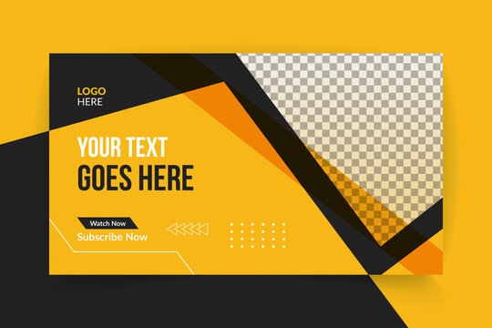 Web banner and youtube thumbnail design template