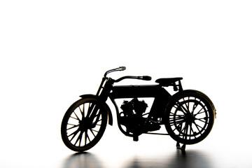 vintage bike isolated on white