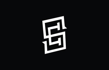 Fototapeta Initial based S, SS, EC, CE,  logo template. Unique monogram alphabet letters design and vector. obraz