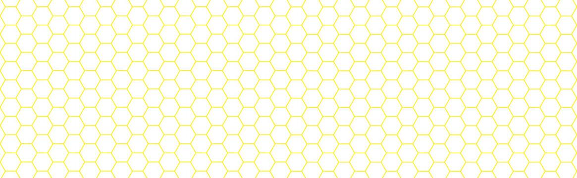 Texture nids d'abeilles jaune, fond blanc