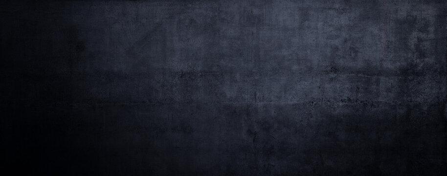 Alter schwarzer Hintergrund. Grunge Textur. Dunkle Tapete. Tafel Kreidetafel Beton.