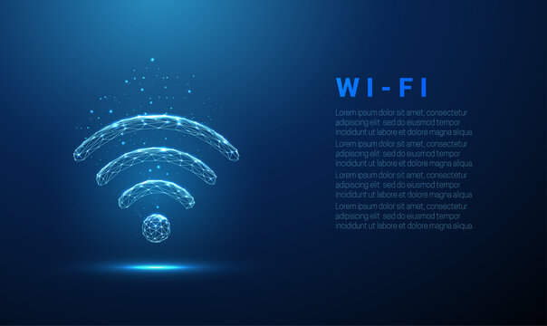 Abstract Wi-Fi symbol. Wireless internet technology concept