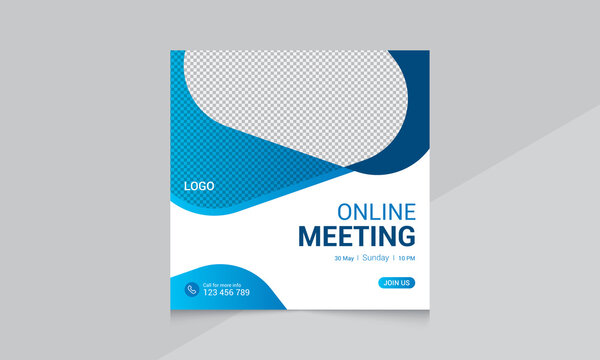 online business conference and corporate social media post template