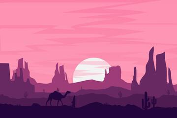 Flat Landscape Beautiful Deserts Nature Mountain Rocks