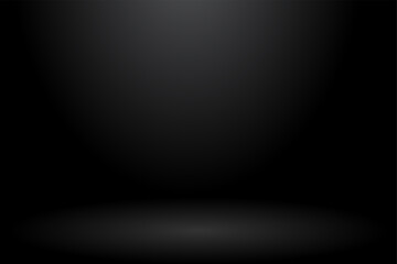Abstract background. The studio space is empty. With a smooth and soft black color.