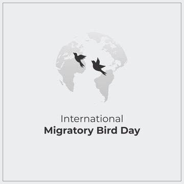 International Migratory Bird Day. white background