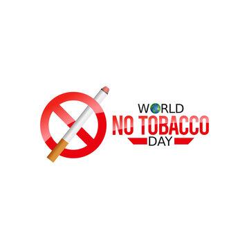 vector graphic of world no tobacco day good for world no tobacco day celebration. flat design. flyer design.flat illustration.