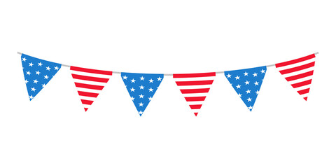 Fototapeta The 4 th of july. American flag. For celebrating America's Independence Day obraz