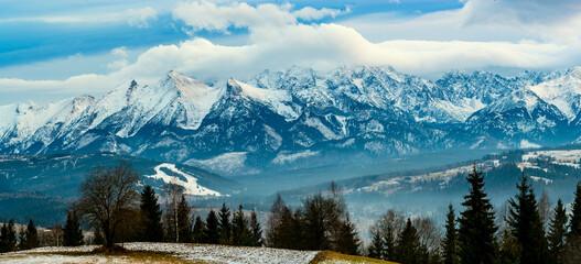 Fototapeta Tatra Mountains winter panorama
