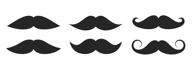 Moustache vector icons