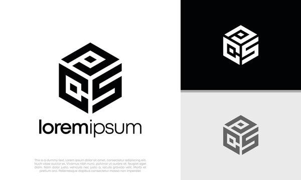 Initials PCS. CPS logo design. Initial Letter Logo. Hexagon logo design.