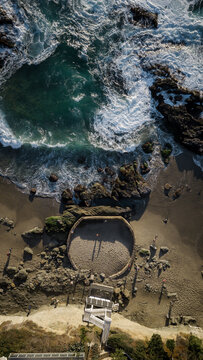 Natural Pool in Laguna Beach in the late afternoon sun