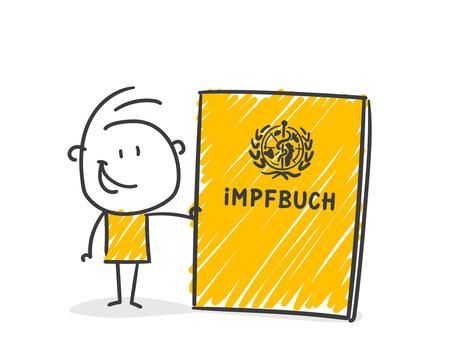 Strichfiguren / Strichmännchen: Impfen, Impfung, Impfausweis. (Nr. 638)