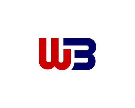 WB BW letter logo design vector template