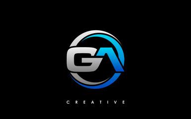 Fototapeta GA Letter Initial Logo Design Template Vector Illustration obraz