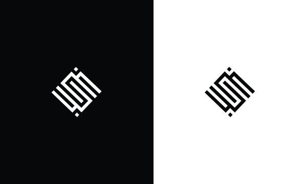 Initial S, SS, SM, MS, WU, UW, UN, NU, logo template. Unique monogram alphabet letters design and vector.