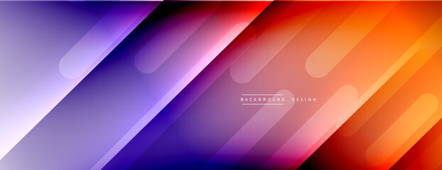 Obraz Dynamic lines abstract background. 3D shadow effects and fluid gradients. Modern overlapping forms - fototapety do salonu