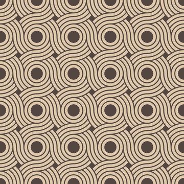 nahtlos Tapete, Hintergrund - beige-braune Kreis in einander verflochten