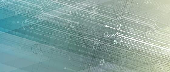 Obraz Abstract circuit board futuristic technology processing background - fototapety do salonu
