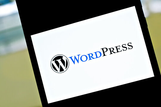 Editorial photo on WordPress theme.  Illustrative photo for news about WordPress - a free and open-source content management system (CMS)