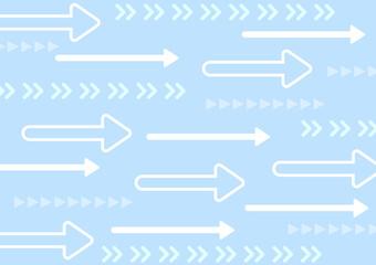 Fototapeta 水色の矢印のパターン背景 壁紙 横向き obraz