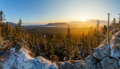 Fototapeta Góry Stołowe formy skalne Szczelińca Wielkiego