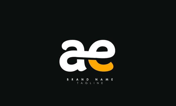 Alphabet letters Initials Monogram logo AE, EA, A and E