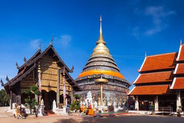 Fototapeta Pagoda of Wat Phra That Lampang Luang ,  Lampang ,Thailand