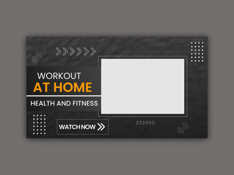 Workout at Home Youtube Thumbnail