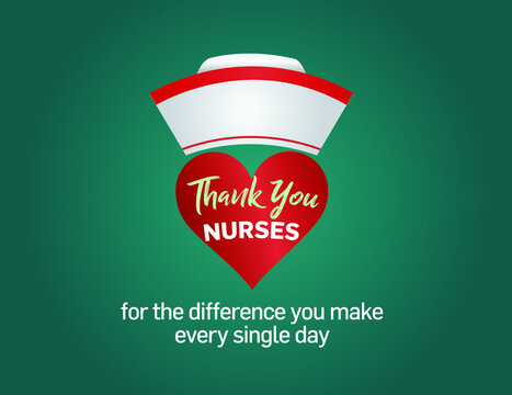 International nurses day. World nurse day concept isolated on colorful background.Thanks nurses for the difference you make every single day