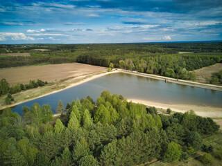 jezioro - zalew - krajobraz - fototapety na wymiar