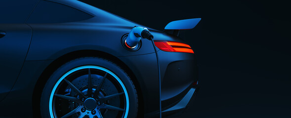 EV Electric car silhouette