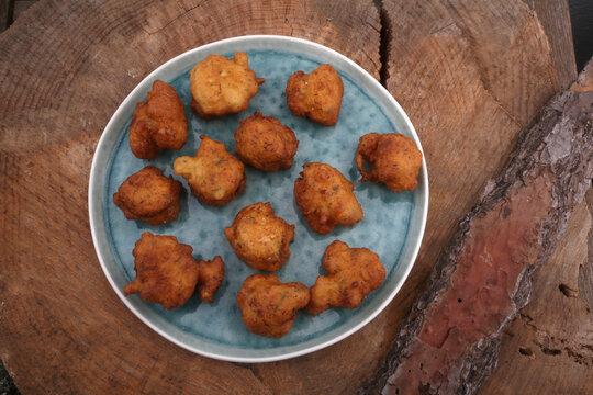 codfish croquets as snack savory food