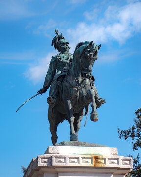 Verona - statua equestre di Vittorio Emanuele II