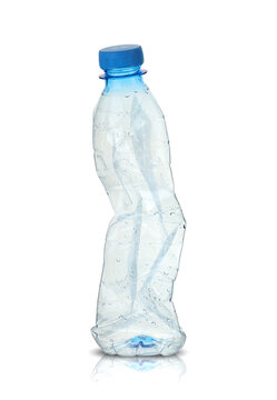 small crushed water bottle