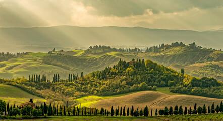 Fototapeta Toscana Landschaft Italien