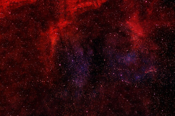 Bright red space nebula. Elements of this image were furnished by NASA.
