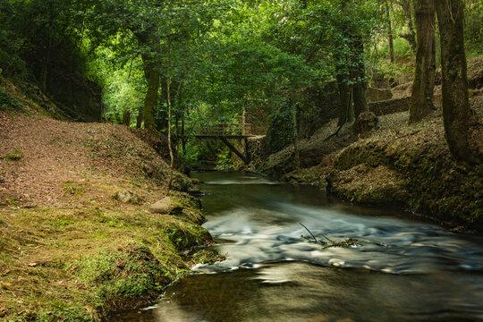 Water stream of Lourido river