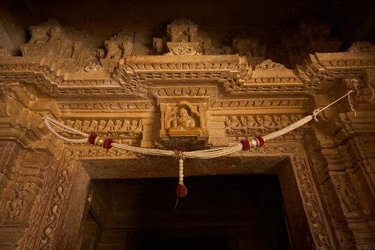 Chandraprabhu Jain Temple inside the Jaisalmer fort.