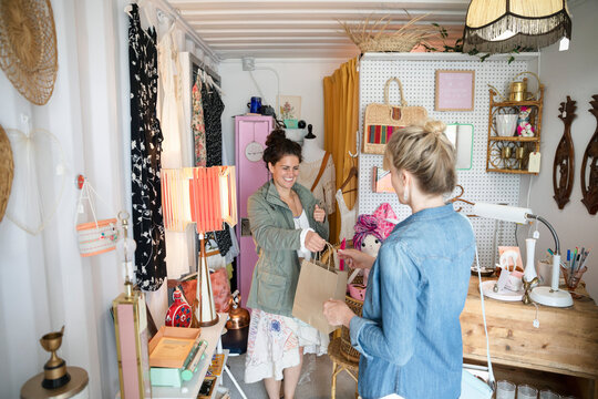 Woman shopping at bazaar marketplace