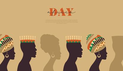 Fototapeta Africa Day template black people community obraz