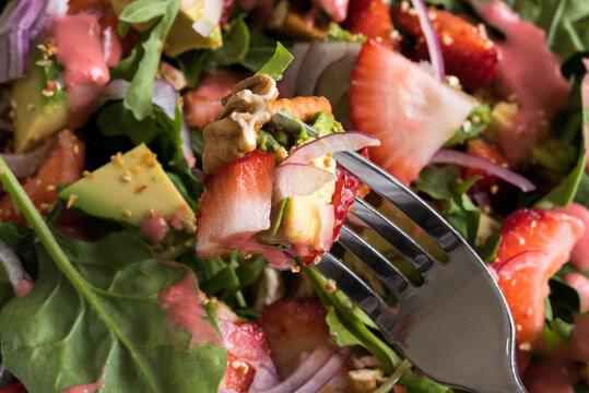 A Forkful of Strawberry Avocado Salad