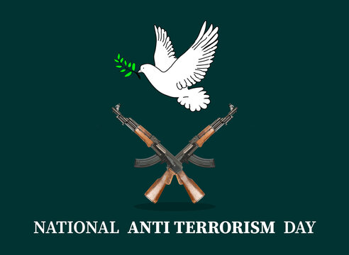 National Anti Terrorism Day . illustration as poster banner .