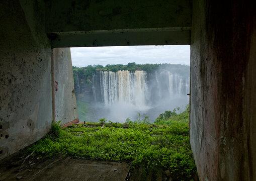 Kalandula Waterfalls From The Ruins Of A Former Hotel, Angola