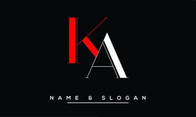 Obraz AK, KA, A, K  Abstract Letters Logo Monogram - fototapety do salonu