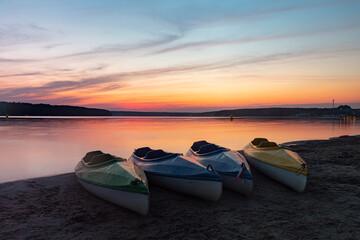 Fototapeta Jezioro Chańcza - zachód słońca obraz