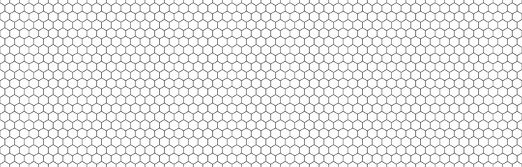 Obraz Hexagon seamless background line pattern.Honeycomb background pattern. Vector isolated texture. Comb seamless texture design - fototapety do salonu