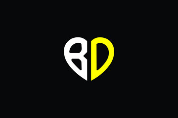 Obraz BD Letter Logo Design. Creative Modern B D Letters icon vector Illustration. - fototapety do salonu