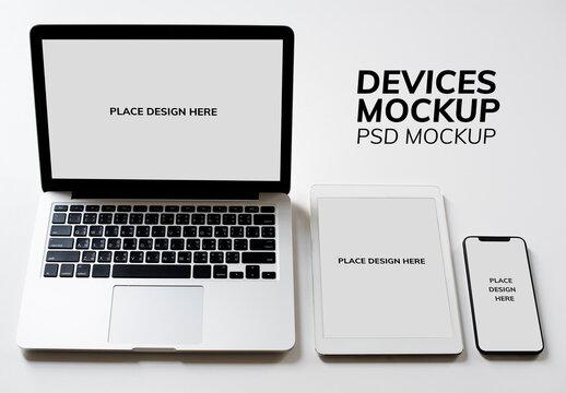 Digital Devices Screen Mockup